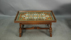 Antique 1920and039s California Coffee Table With Californian Tiled Top 13183