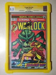 Strange Tales 180 Cgc 8.5 Ss Signed Stan Lee 1st Appearance Gamora 1975andnbsp