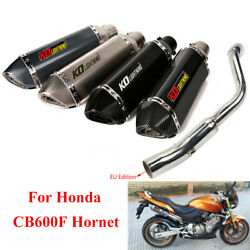 Eu Edition For Honda Cb600f Hornet 600 Exhaust Mid Pipe Connect 51mm Muffler Tip