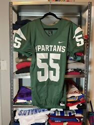 Sample Nike Player Issue Michigan State Msu Spartans Football Jersey L 845929