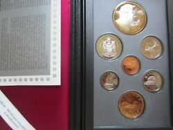 1995 Canada Proof Double Dollar Set. 7 Coins Cent To Silver Dollar Mint Set