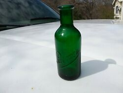 Vintage Palmer Perfume Bottle Antique Green Glass Collectible Advertising