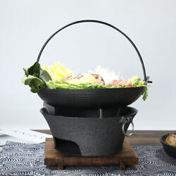 Cast Iron Barbecue Charcoal Oven Japanese Shouxi Hanging Pot Single Dry Pot