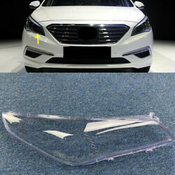 Right Side Headlight Clear Lens Cover + Sealant Glue For Hyundai Sonata 2015-201