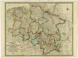 Antique Map Of Northern Germany By Wyld 1854