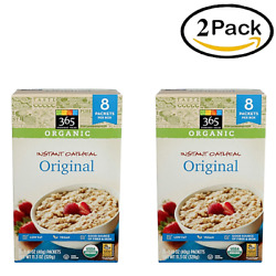 365 Everyday Value Whole Foods Organic Oatmeal Instant Original 2 Pack