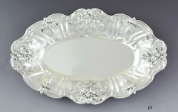 Fine Reed And Barton Sterling Silver Francis I Oval Dish/bowl Bread Tray 7.5 X 12