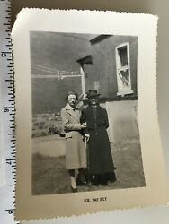 Vintage Black And White Photo Women / Woman Look For Combine Shipping 241