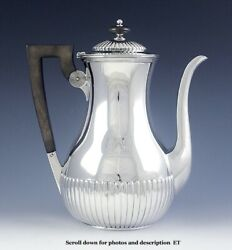 Antique C1880 Bigelow Kennard American Sterling Silver Coffeepot Teapot 8 3/4