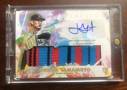 Jordan Yamamoto 2020 Inception Autographed Game Sock Relic Rookie /25 Rpa Ssp