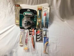 Mitchell 308 C Spin Reel And Lot Of Vintage Fishing Lures