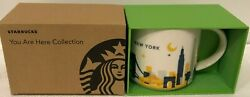New Starbucks New York You Are Here Collection - 14 Oz. Coffee Mug, New In Box