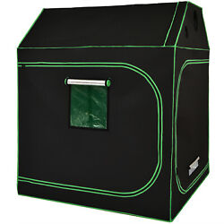 Costway 60x60x72 Mylar Hydroponic Grow Tent Roof Cube W/ Removable Floor Tray