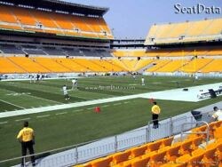 2 Steelers Vs Browns Tickets Lower Level Sidelines 7th Row