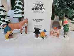 Dept 56 Dickens Village - Heritage Village Blacksmith Set Of 3