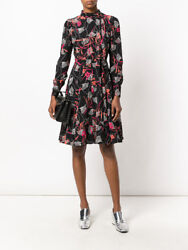 Nwt Valentino Floral Mock Neck Long Sleeve Dress Womenand039s Nb3vadl03dk Sz 12 3980