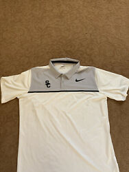 Usc Trojans Nike Golf Team Polo Shirt Team Issued Xl Embroidered