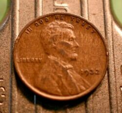 1932-p Lincoln Wheat Cent 1c With Woodie Surface Errors.  7034