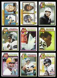 1979 Topps Football Partial/starter Set With Stars And No Duplicates 275 Of 528