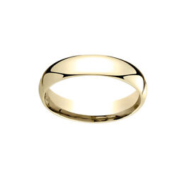 18k Yellow Gold 5mm Slightly Dome Comfort Fit Classic Wedding Band Ring Sz 11