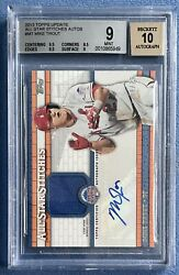 Mike Trout 2013 Topps Update All Star Stitches Auto Autograph D /25, Bgs 9 Mint