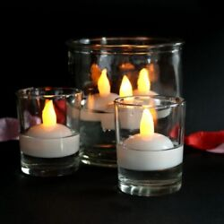 12PC LED Floating Candles Flameless Waterproof Tea Light For Wedding Xmas Party