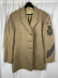 Post Wwii Us Navy Jacket Bullion Aviation Master Chief Petty Officer Patch