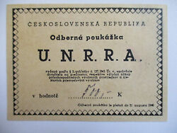 500 Kroner United Nations Relief And Rehabilitation Administration Post-ww2 Aunc
