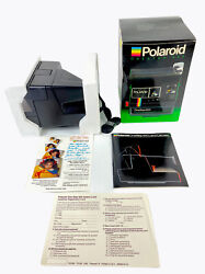 Vintage 1983 Polaroid 600 One Step Instant Camera In Original Box With Manuals