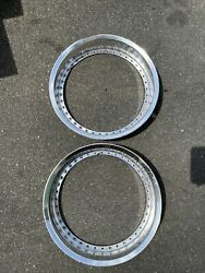 Work Wheels 40 Hole 18x3 Barrel Outer Lips Pair Oem 2 Used