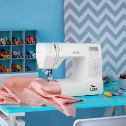 Electric Portable Sewing Machine Household Multifunction Double Thread And Spee