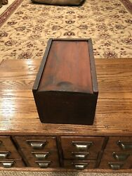 Antique Wooden Candle Box With Original Paint