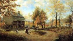 An October Day Edward Lamson Henry Archival Quality Art Print