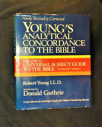Young's Analytical Concordance To The Bible Hardbound With Dust Cover