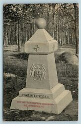 Postcard Pa Gettysburg Battlefield 2nd Second Md Csa Confederate Monument 2ad12