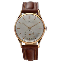Vintage Girard-perregaux 18k Rose Gold Case 37mm Leather Manual Wind Menand039s Watch