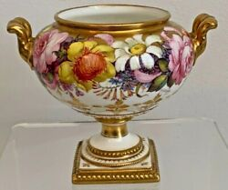 Rare And Superb Royal Crown Derby Cache Pot - Artist Signed Albert Gregory