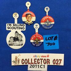 Boy Scout 4 Band Over Buttons Mixed Lot 700