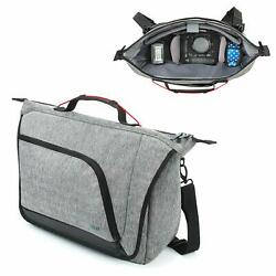Messenger Camera Bag w Customizable Dividers and Weather Resistant Bottom $39.99