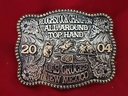 Rodeo Trophy Champion Buckle☆2004☆las Cruces Nm. All Around Champion Vintage 766