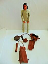 🚩vintage Marx Best Of The West 1967 Fighting Geronimo W/ Accessories Lot