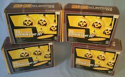 4 Boxes Halloween Pumpkin Light Strings Blow Mold Head And Candle Indoor Outdoor