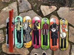 Rare Chocolate Day Of The Dead Limited Nos Skateboard [incomplete] Set Read