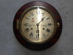 Sewills Ships Bell Clock. Vintage. Christmas Spares Or Repairs Needs Service