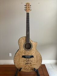 2010 Ibanez Exotic Wood Acoustic Electric Guitar Quilted Ash Jack Ingram Sign
