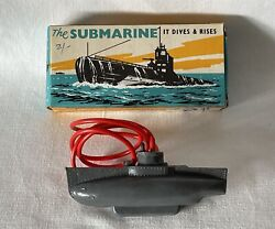 Vintage Plastic Tresco Diving Toy Submarine - New Old Stock. Never Used. Sub2