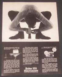 1969 Bolex 155 Macrozoom Camera Magazine Ad Be In Shape To Get Ant With Camera