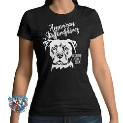 American Staffordshire T Shirt Dog Amstaff Staffordshires Because People Suck