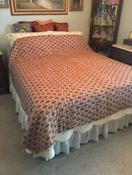 Rare 1800and039s Inportant Museum Quality Wholecloth Quilt With Provenance