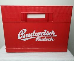 Plastic Beer Crate Carrier Holds 20 Bottles Mancave Budweiser Budvar Fathers Day